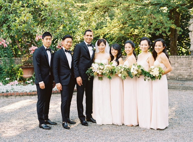 Jennifer and Salil Wedding Party