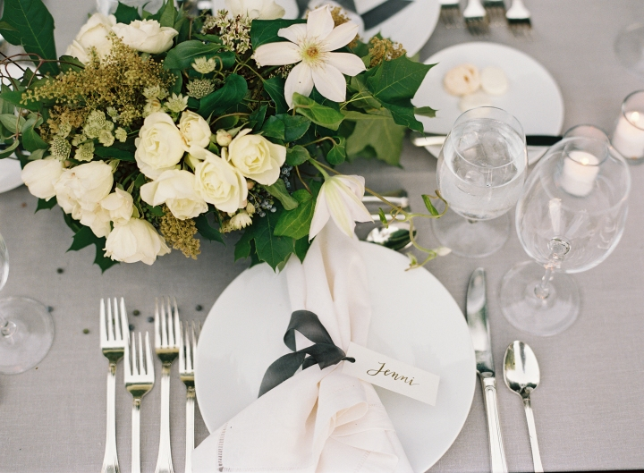 Table decor and flowers were designed by McKenzie Powell