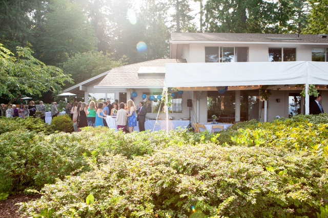 We used every inch of space for this backyard event.