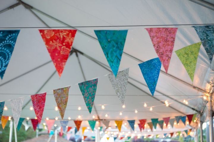 Bunting and lights