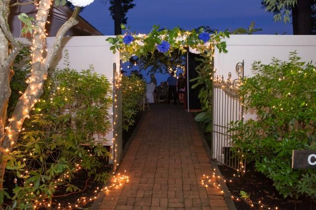 Garden Gate at night