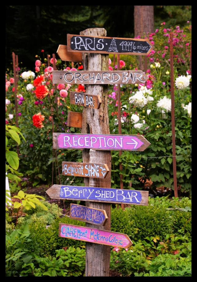 It can be easy to get turned around at the Picha's. This sign helped guests find their way.